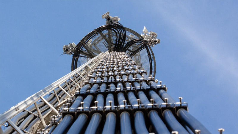 Antenna tower from ground view